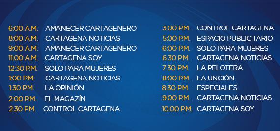 Programación Lunes Canal Cartagena