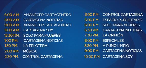 Programación Martes Canal Cartagena