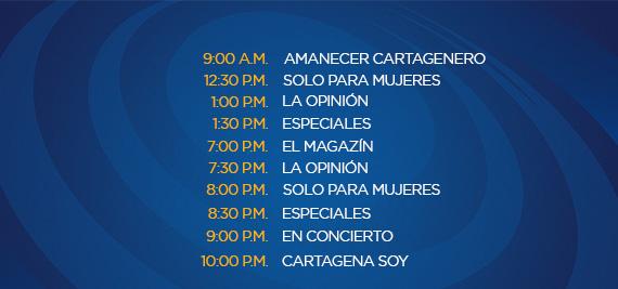 Programación Sábado Canal Cartagena
